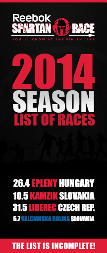Spartan Race Central Europe - Season 2014 - List of races